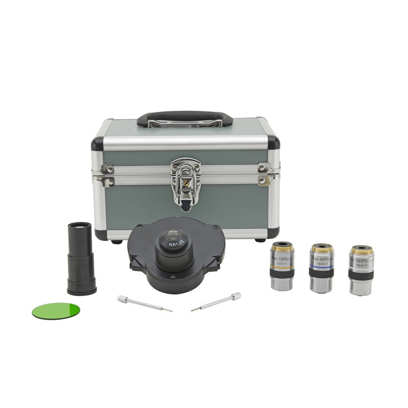 OPTIKA M-179 Complete Phase Contrast Set with Darkfield Position, 10x, 40x & 100x W-PLAN Objectives