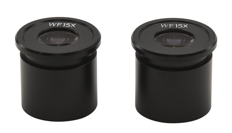 OPTIKA ST-003 Wide Field 15x/15mm Eyepieces (Pair)