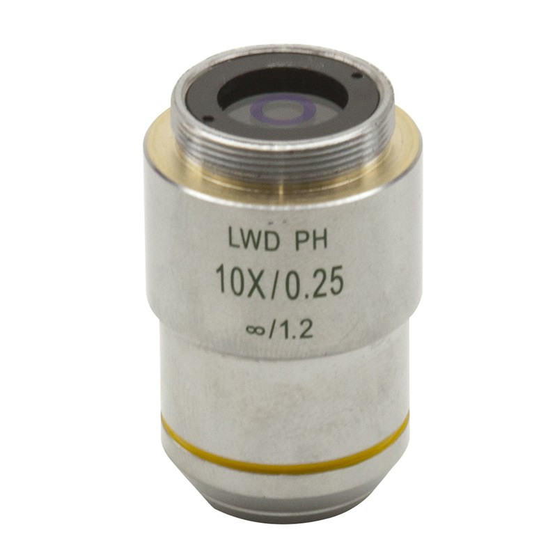 OPTIKA M-783N 10x/0.25 IOS LWD W-PLAN PH Objective For Phase Contrast