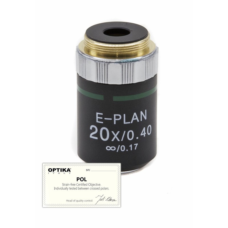 OPTIKA M-146P 20x/0.40 IOS N-PLAN POL Objective