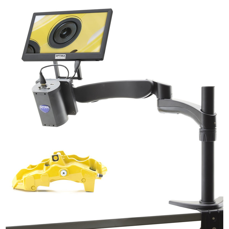 """OPTIKA IS-03 Advanced Inspection System with Flexible Arm Stand, Integrated 2MP HDMI Autofocus Camera & 11.5"""" HD Monitor"""