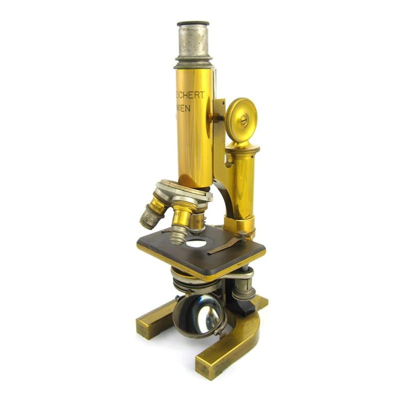 C. Reichert Wien Vienna Microscope No. 18527, Antique