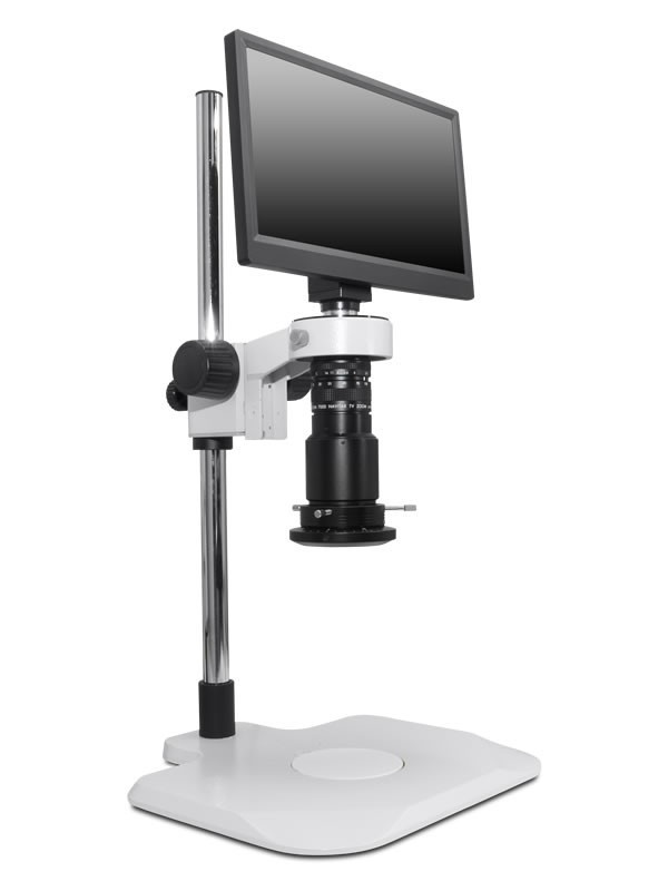 Scienscope MAC3-PK1-R3, MAC3 HD Compact Video System on Extended Post Stand with High Intensity LED Ring Light with Polarizer