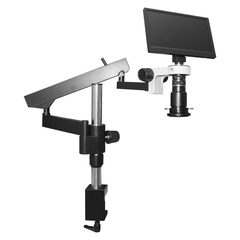 Scienscope MAC3-PK3-R3, MAC3 HD Compact Video System on Heavy Duty Articulating Arm Stand with High Intensity LED Ring Light with Polarizer