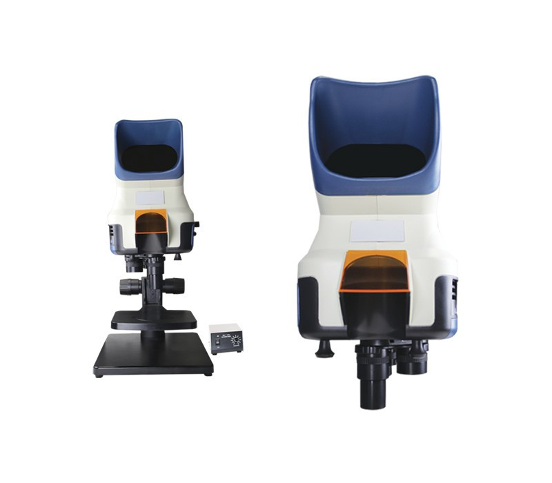 Scienscope Vizor-T Visual Inspection System on Bench Top Stand with Focusing Stage