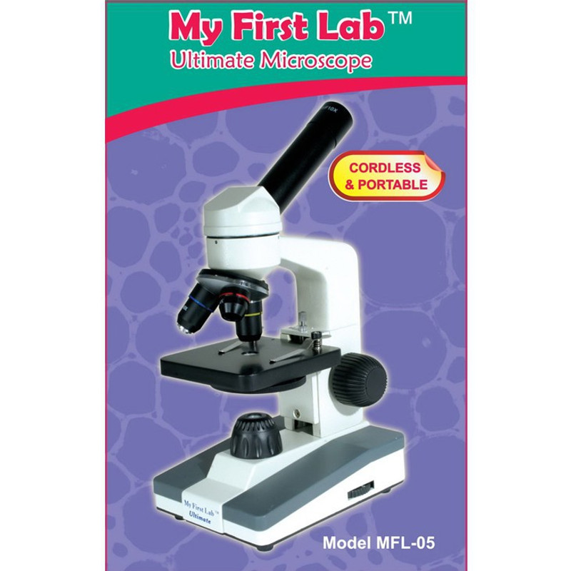 My First Lab Ultimate Cordless LED Microscope with Accessory Kit