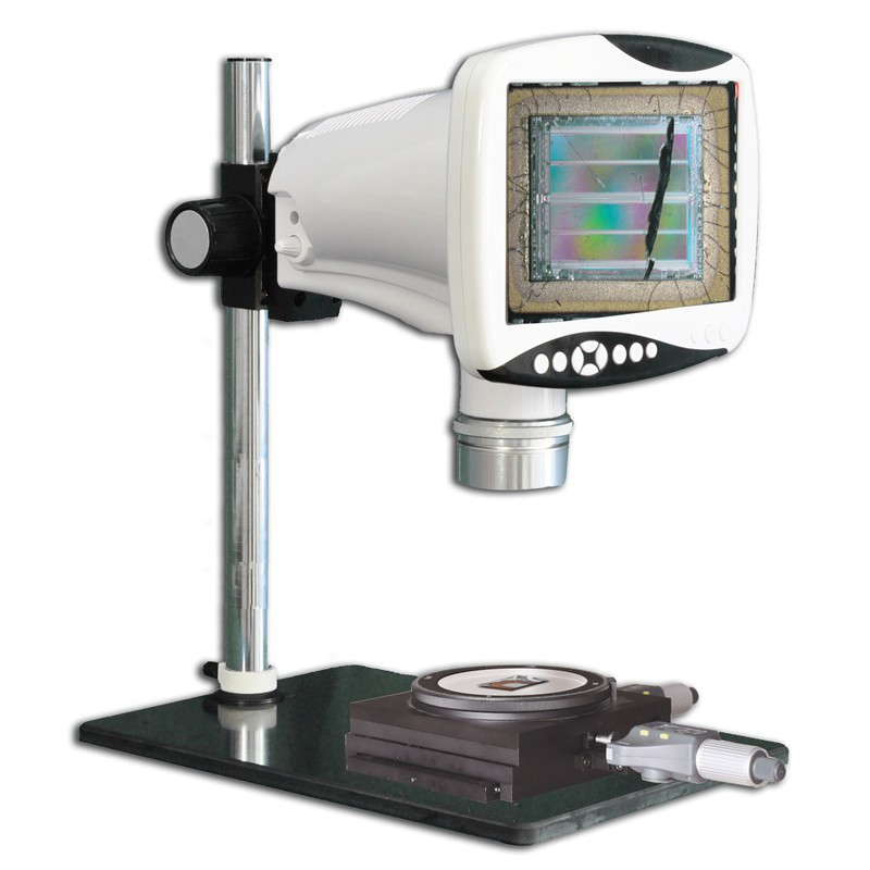 """Steindorff NYMCS-343 Digital Stereo Measuring Microscope with 9"""" HD LCD Screen & Measurement Stage, 5 Megapixel, 9x - 80x Magnification Range"""