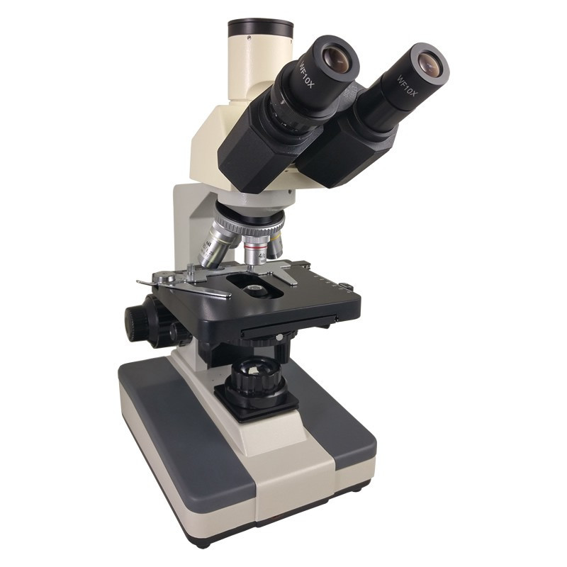 Steindorff Trinocular Microscope, DIN Achromatic objectives 4x, 10x, 40xR, 100xR oil, Reconditioned