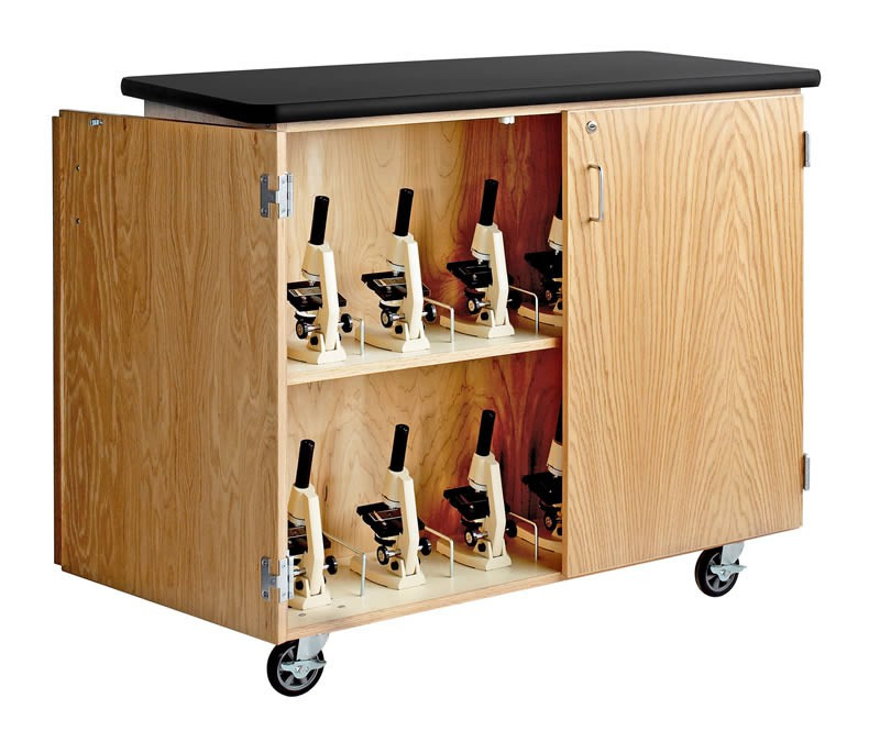 """Mobile Microscope Cabinet, 48""""W x 24""""D x 40""""H"""