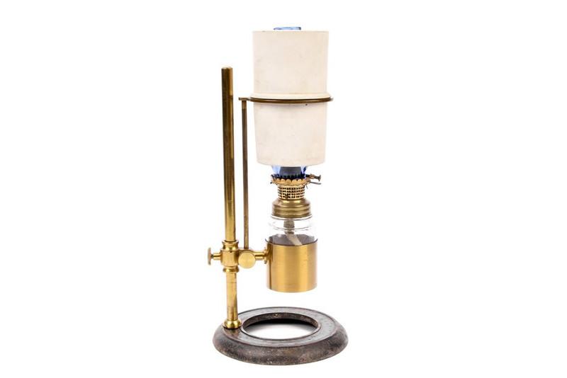 English Oil Lamp For Microscope Illumination - Antique