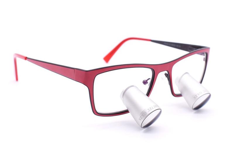 Surgical Eye Loupes 3.5x Fusion TTL - Titanium Frame