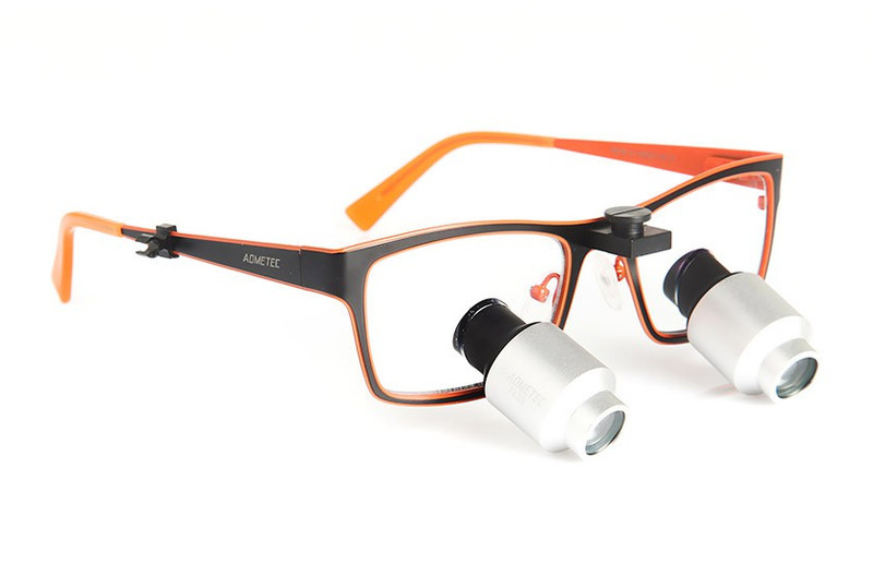 Surgical Eye Loupes 4.0x Fusion Prismatic TTL - Titanium Frame