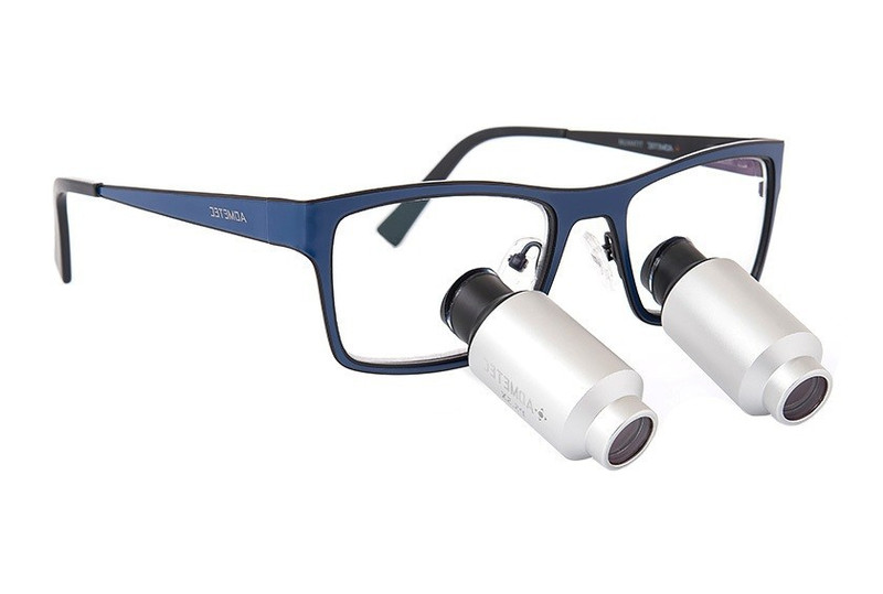 Surgical Eye Loupes 5.5x Fusion Prismatic TTL - Titanium Frame