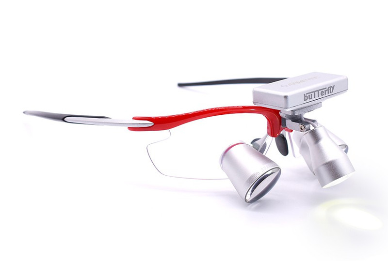 Surgical Eye Loupes 2.5x Fusion TTL with Headlight - Sports Frame
