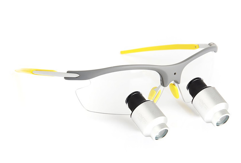 Surgical Eye Loupes 5.5x Fusion Prismatic TTL - Sports Frame