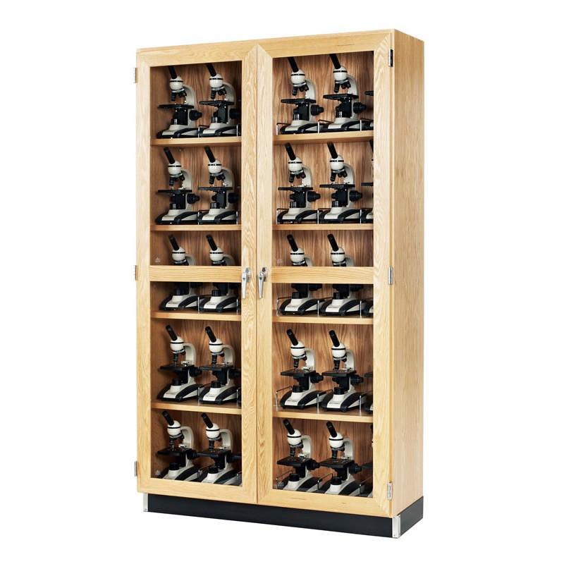 """Microscope Storage Cabinet, 48""""W x 16""""D x 84""""H"""