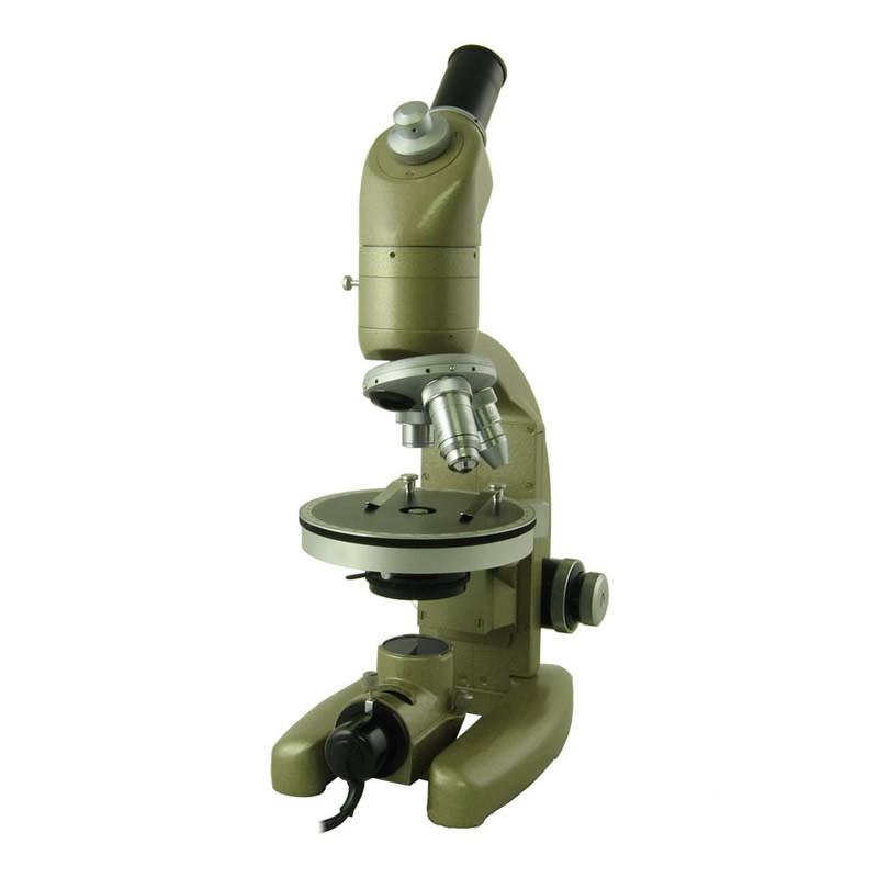 Vicker Instruments Monocular Polarizing Microscope - Three Objectives, Illumination, Carry Case - Reconditioned