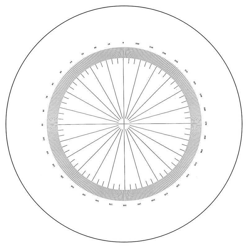 Comparator Reticle, 360 Degrees