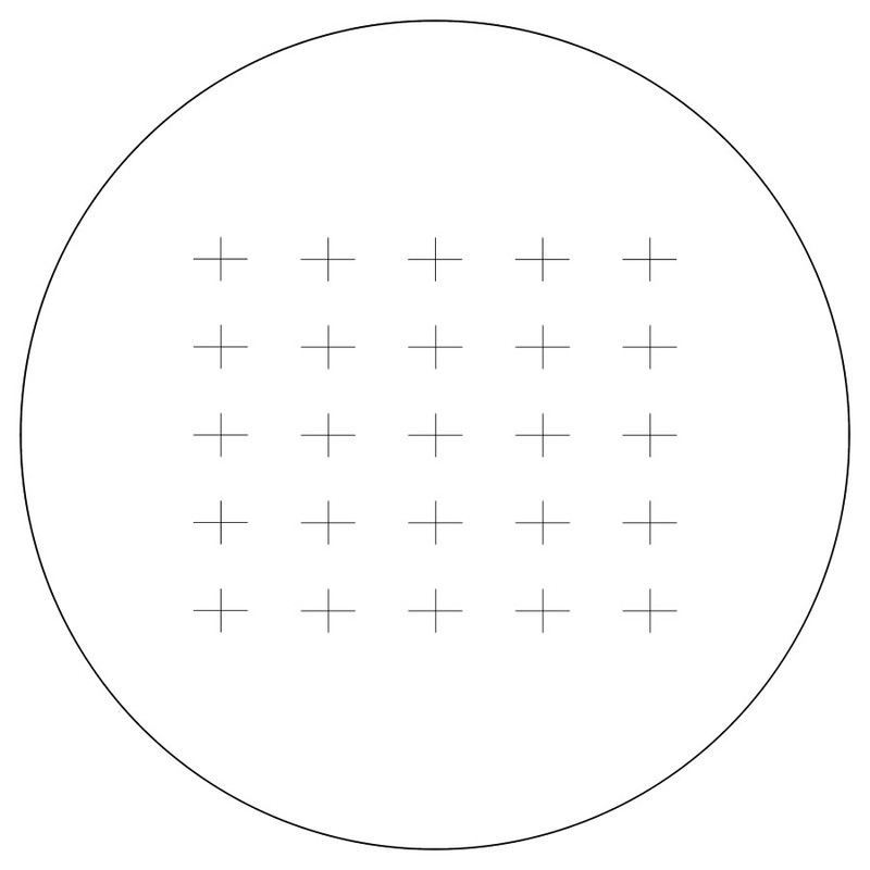 Counting Reticle, Chalkley 25 Crosses