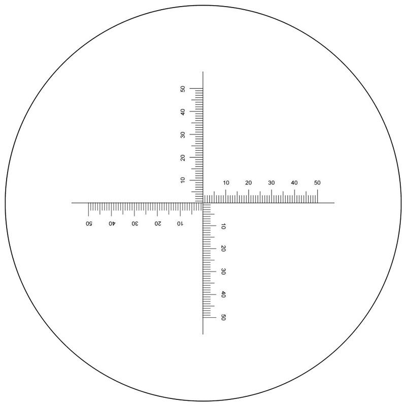 Pinwheel Crossed Scale Reticle
