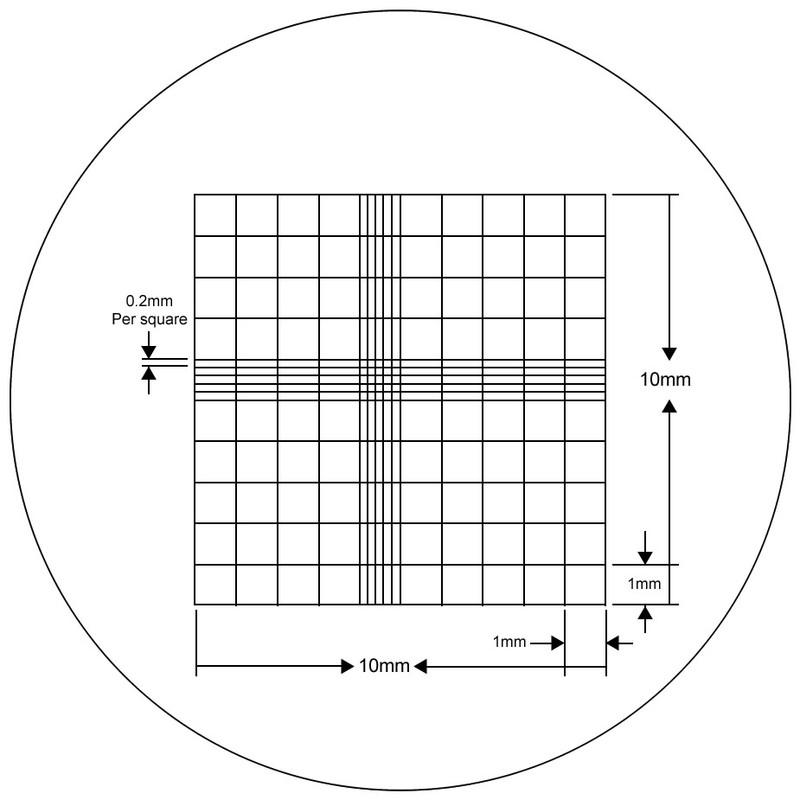 Whipple Hauser Reticle, 10 mm x 10 mm