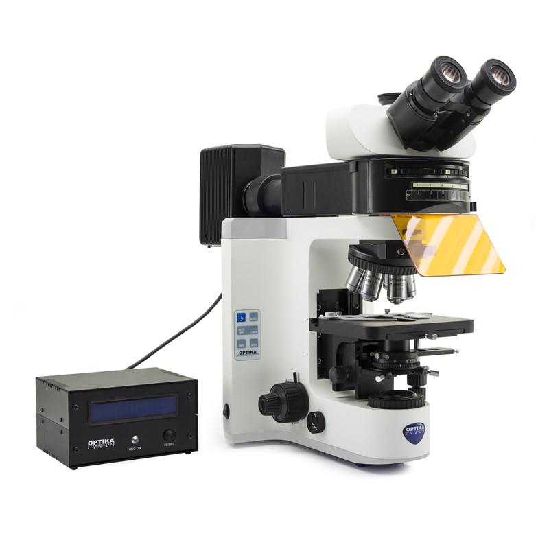 OPTIKA B-1000FL-HBO Fluorescence Research Microscope