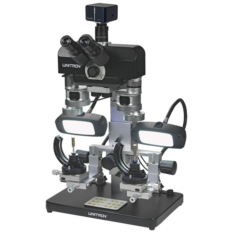 UNITRON 16206 Comparison Forensic Microscope, Fluorescent Lights on Goosenecks, Color CMOS 20.0 Megapixel Camera