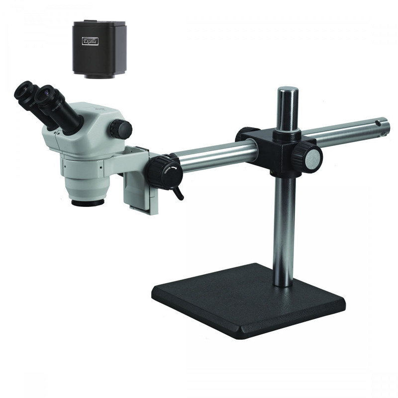 ACCU-SCOPE 3079-BS Zoom Stereo Digital Microscope Package on Boom Stand