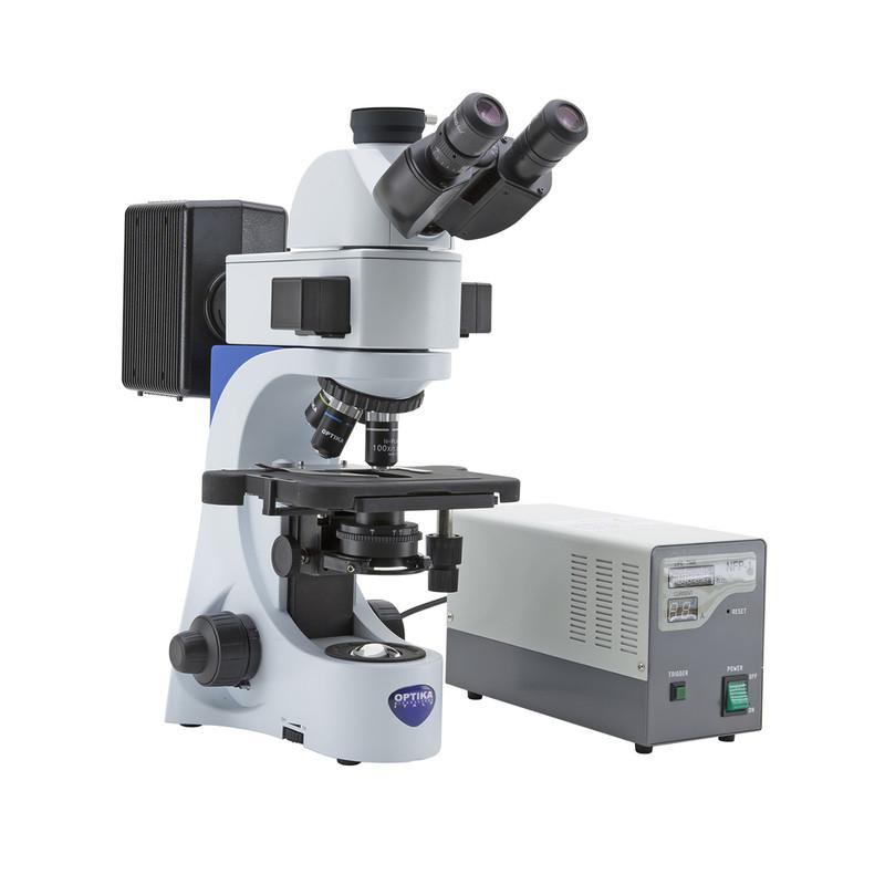OPTIKA B-383FL Trinocular Fluorescence Microscope