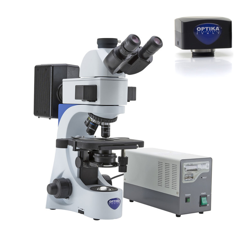 OPTIKA B-383FL Fluorescence Digital Microscope Package