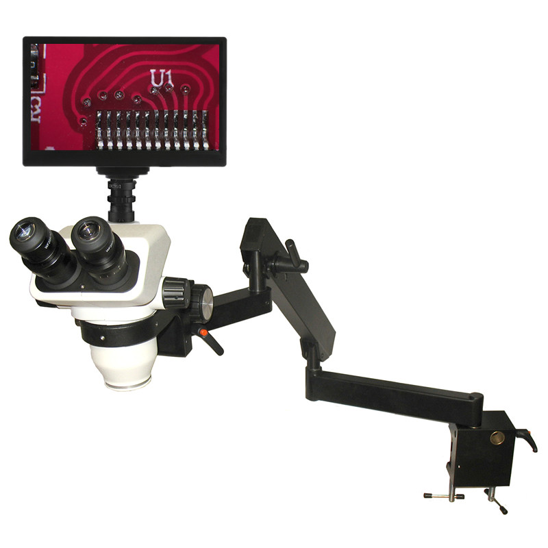 ACCU-SCOPE 3076-FA Stereo Digital LCD Microscope Package on Flex Arm Stand