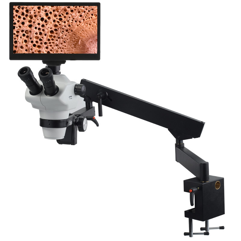 UNITRON Z850 Zoom Stereo Digital LCD Microscope Package on Flex Arm Stand