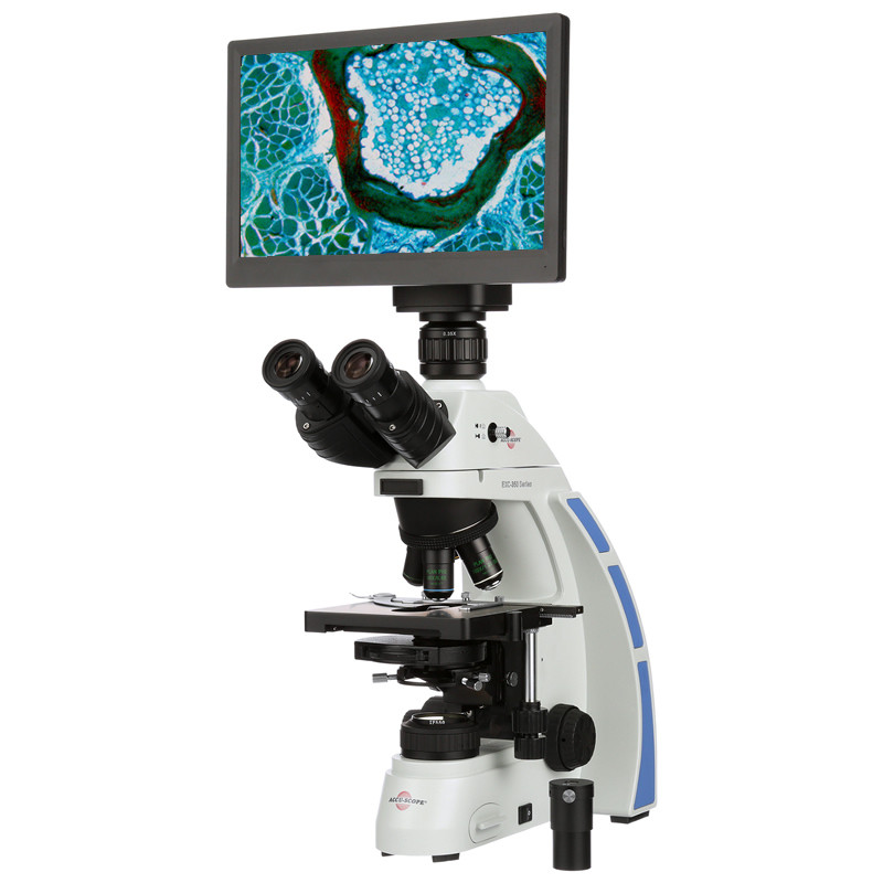 ACCU-SCOPE EXC-350-PH Phase Contrast Digital LCD Microscope Package with Turret Phase System