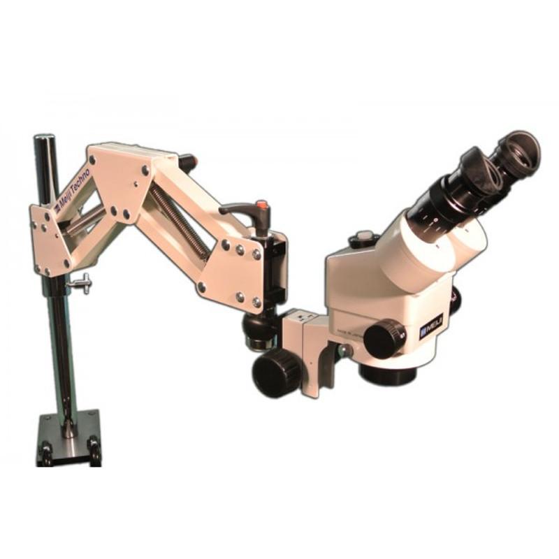 Meiji EMZ-8U on CR-2 Articulated Arm Stand, 7x - 45x Magnification