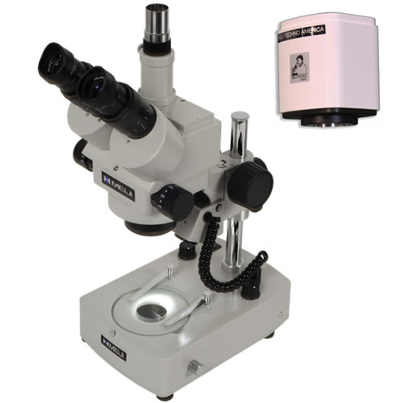 Meiji EMZ-5TR Zoom Stereo Digital Microscope Package on BD-LED Stand