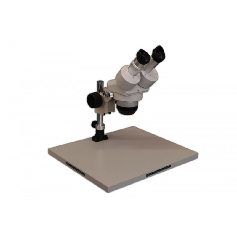 Meiji EMT Stereo Microscope on KBL Wide Surface Stand