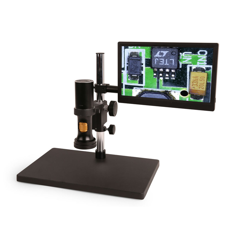 """Steindorff All-in-one Continuous Zoom Digital Microscope with 13.3"""" HD Monitor"""