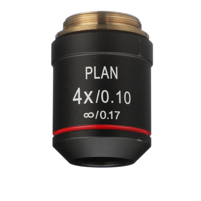 ACCU-SCOPE 00-3173-PL 4x Infinity Plan Achromat Objective