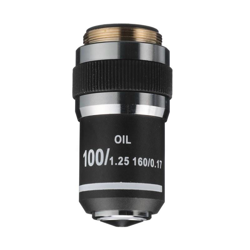 ACCU-SCOPE 02-3200-DF 100xR Oil DIN Achromat Objective with Darkfield Iris