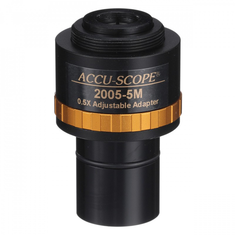 ACCU-SCOPE 2005-5M 0.50x Focusable C-Mount Adapter