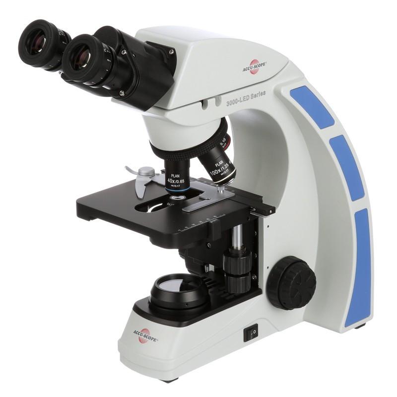 ACCU-SCOPE 3000-LED Binocular Biological Microscope, 1000x Magnification