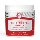 Skin Rescue Acne Clearing Pads with White Clay(60 Pads)