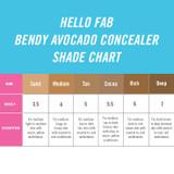 Hello Fab Bendy Avocado Concealer Shade Chart