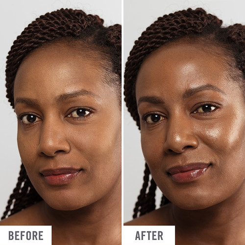 Hello Fab Coconut Skin Smoothie Priming Moisturizer Before and After Use