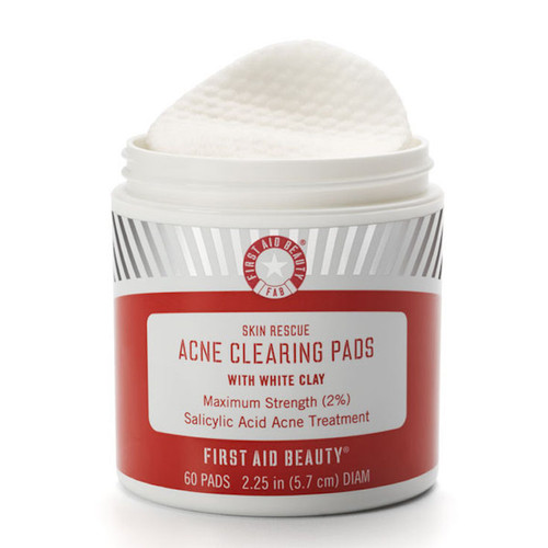 Skin Rescue Acne Clearing Pads with White Clay -treat Acne & Control Oil