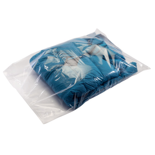 8X8 - 1.5 mil - clear - layflat poly bags - 1000 bags/case