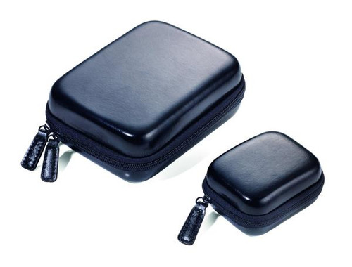 Set of 2 Zipper Cases Black