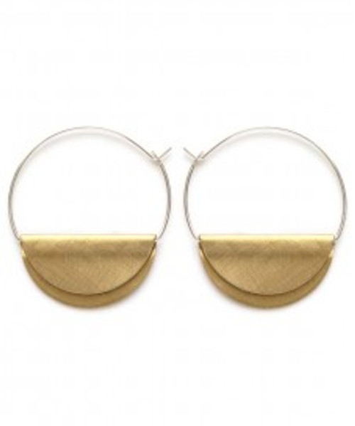Hather Hoops Sterling Silver Hoop & Brass