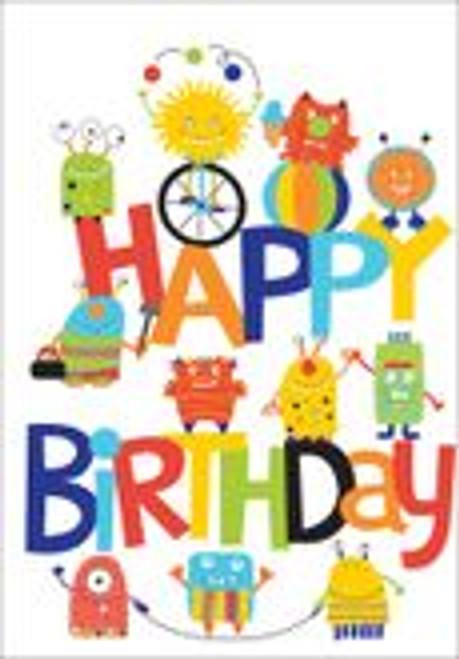 Birthday Card - Happy Birthday Monsters