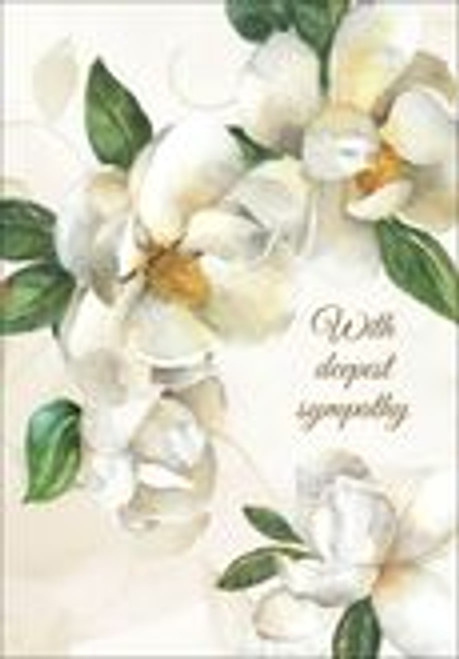 Sympathy Card  With Deepest Sympathy